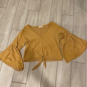 Statement Sleeve Cropped Sweater